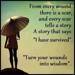 scar turn wounds into wisdom