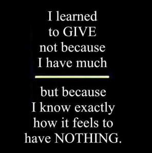 learned to give