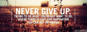 never give up love inspiration
