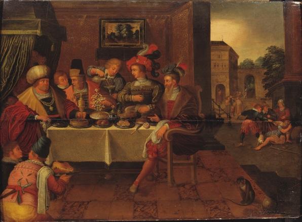 Frans Francken I. Hans skola: Den rike mannen och Lazarus. NM 429